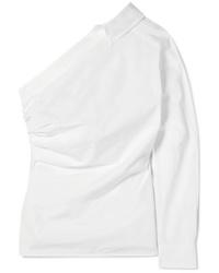 Max Mara Jack One Shoulder Cotton Poplin Shirt