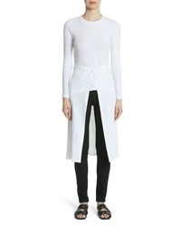 Rosetta Getty Jersey Apron Wrap Top