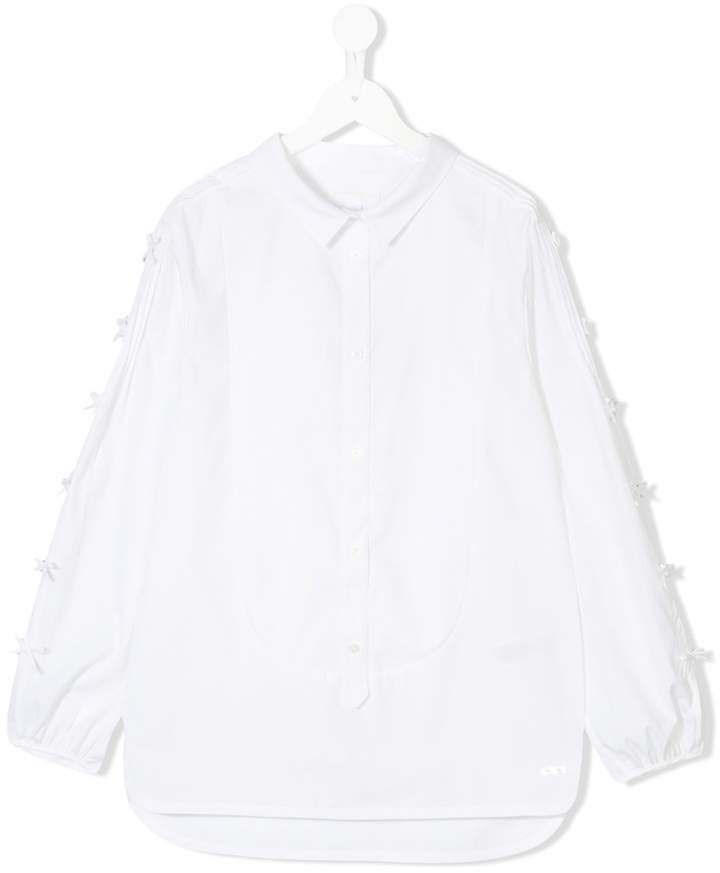 Burberry Kids Bow Detailing Shirt