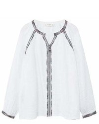 MANGO Kids Kids Embroidered Boho Blouse