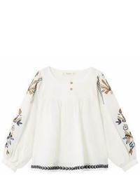 MANGO Kids Kids Floral Embroidery Blouse