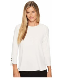 Calvin Klein Long Sleeve Blouse W Button Detail Blouse