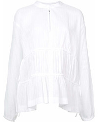 Long sleeve blouse with tie detail medium 6986725