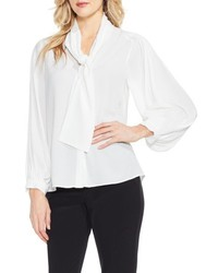 Long sleeve tie neck blouse medium 6448480