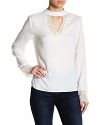 Vero Moda Nile Lace Trim Long Sleeve Blouse