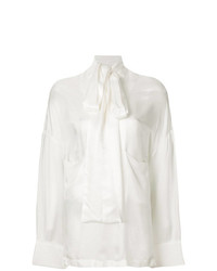 Ann Demeulemeester Oversized Pussy Bow Blouse