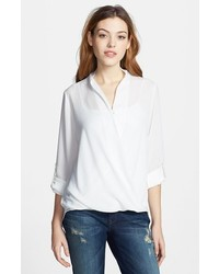 Pleione faux wrap blouse ivory medium medium 156365