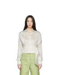Materiel Tbilisi White Jacquard Cropped Shirt