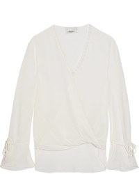 3.1 Phillip Lim Wrap Effect Silk Blouse