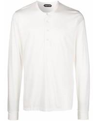 Tom Ford Long Sleeve Henley T Shirt