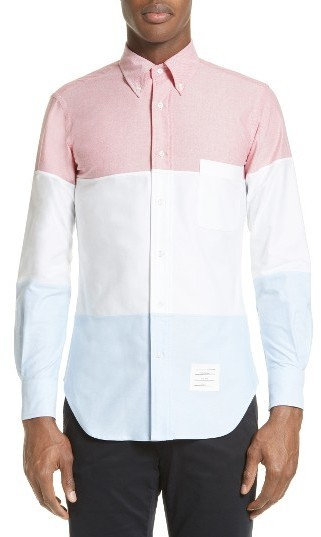 Thom Browne 3 Panel Oxford Sport Shirt