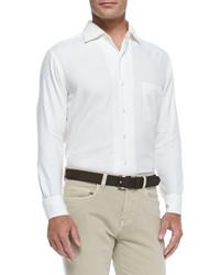 Loro Piana Andre Button Down Shirt Optical White