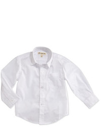 Appaman Childrens Clothing Solid Button Down Shirt White 2t 14