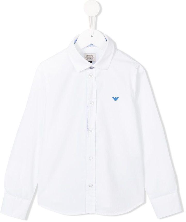Armani Junior Logo Embroidered Shirt