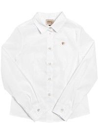Armani Junior Stretch Cotton Blend Poplin Shirt