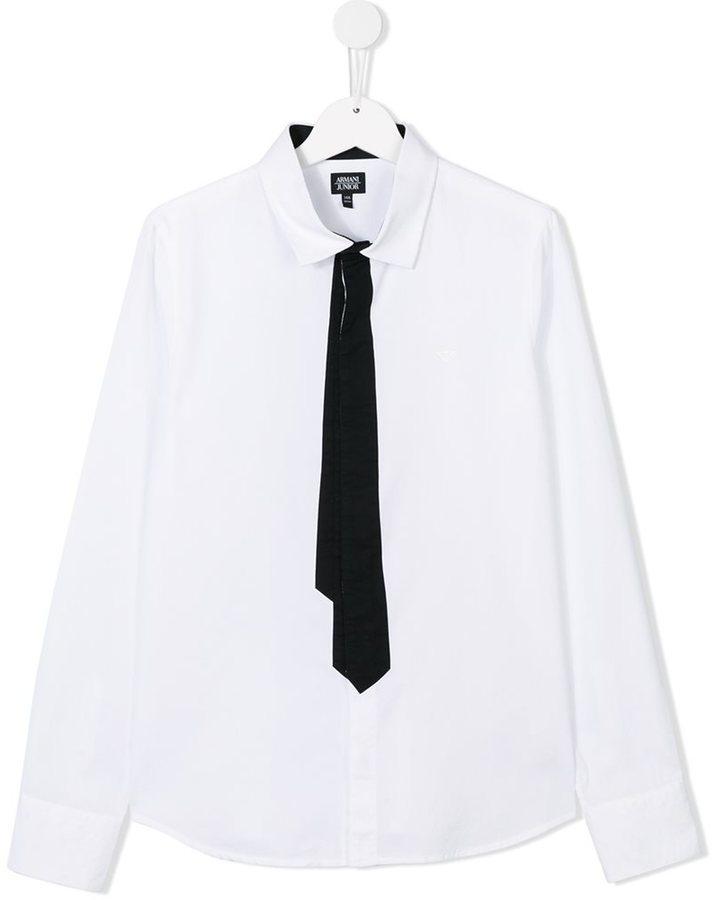 Armani Junior Tie Detail Shirt