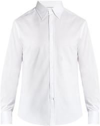 Brunello Cucinelli Button Down Collar Cotton Jersey Shirt