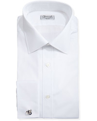 Charvet Solid Poplin French Cuff Shirt White