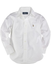 Ralph Lauren Childrenswear Toddler Boys White Oxford Sport Shirt Sizes 2t 4t