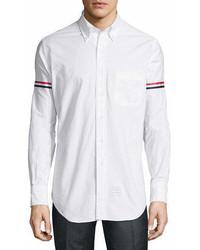 Thom Browne Classic Arm Stripe Long Sleeve Oxford Shirt