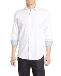 Bugatchi Classic Fit Abstract Print Cotton Sport Shirt