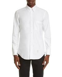 Thom Browne Classic Fit White Oxford Shirt