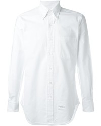 Thom Browne Classic Long Sleeve Shirt In White Oxford