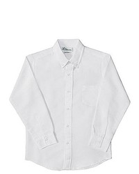 Classroom Uniforms Boys School Uniforms Basic White Long Sleeve Oxford Shirt