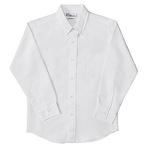 Classroom Uniforms Boys School Uniforms Basic White Long Sleeve ...