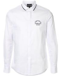 Emporio Armani Contrast Collar Logo Shirt
