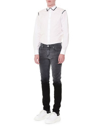 Alexander McQueen Contrast Trim Button Down Sport Shirt