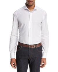 Isaia Cotton Linen Sport Shirt