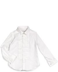 Burberry Cotton Tuxedo Shirt White Size 4 14
