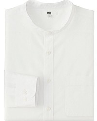 Uniqlo Efc Broadcloth Stand Collar Long Sleeve Shirt