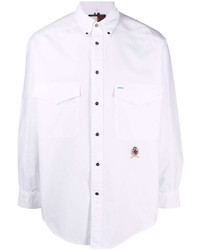 Tommy Hilfiger Embroidered Logo Button Up Shirt