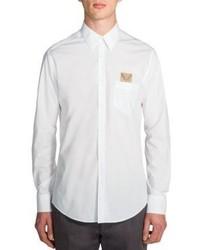 Fendi Embroidered Monster Pocket Sportshirt