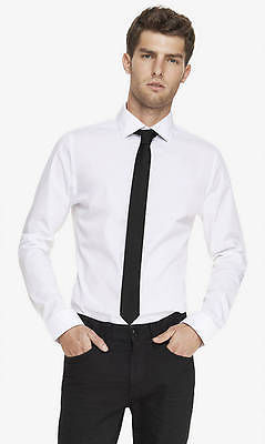 Express Fitted 1mx Button Down Shirt Long Sleeves White Sizes Xs ...