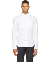 Moncler Gamme Bleu White Oxford Logo Patch Shirt