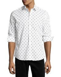 Kenzo Iconic Eye Slim Fit Sport Shirt White