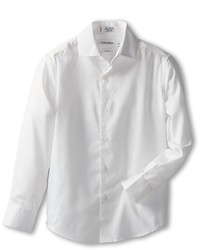 Calvin Klein Kids Sateen Shirt Boys Long Sleeve Button Up