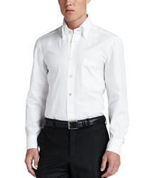 Kiton Oxford Dress Shirt White