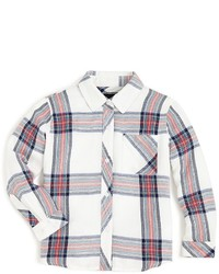 Rails Little Girls Large Scale Plaid Button Down Shirt Sizes 4 10