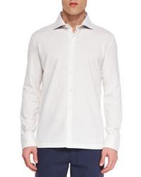 Ermenegildo Zegna Long Sleeve Button Front Sport Shirt