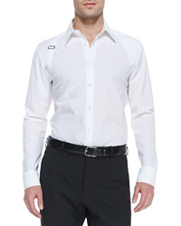 Alexander McQueen Long Sleeve Harness Shirt White