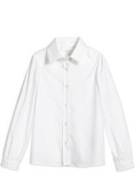Gucci Long Sleeve Poplin Shirt White Size 4 12