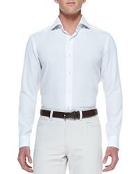 Ermenegildo Zegna Long Sleeve Shirt White