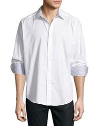 Robert Graham Long Sleeve Woven Sport Shirt White