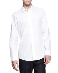 Maison Martin Margiela Faux Pocket Long Sleeve Shirt White