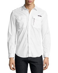 Diesel Military Shirt White
