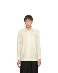 132 5. ISSEY MIYAKE Off White 1 Shirt